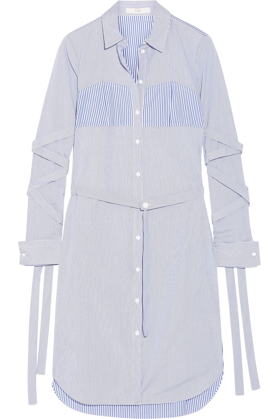 Tibi | Striped cotton-poplin dress | NET-A-PORTER.COM
