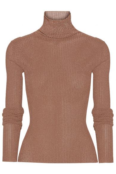 TibiMetallic Net A Ribbed com Sweater Turtleneck Knit Porter SUpVzGjLqM