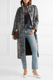 Elizabeth and James Balin leopard-print faux fur coat