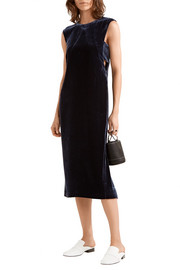 Elizabeth and James Michelle cutout velvet midi dress