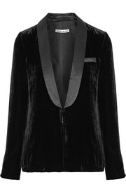 Elizabeth and James Ambrose satin-trimmed velvet blazer