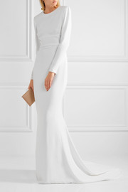 Renee open-back stretch-crepe gown