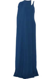 Stella McCartney Mirabella cape-effect stretch-cady gown