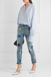 Stella McCartney Printed mid-rise straight-leg jeans