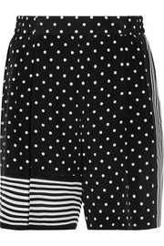 Stella McCartney Zandra printed silk crepe de chine shorts