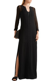 Elizabeth and James Mia embroidered silk-georgette maxi dress