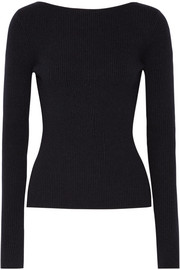 Fay tie-back ribbed-knit sweater