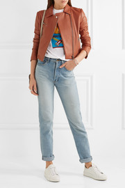 Elizabeth and James Gigi cropped leather biker jacket