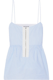 Elizabeth and James Eloise striped cotton-poplin top