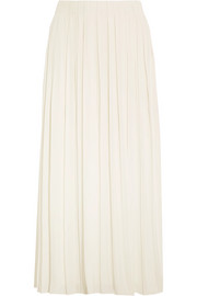 Elizabeth and James Quinn pleated crepe de chine midi skirt