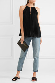 Elizabeth and James Nina pleated chiffon top