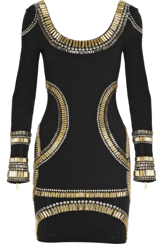 Black Embellished Jersey Mini Dress Sass Bide Net A Porter