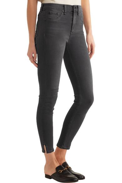rag & bone | The Capri cropped high-rise skinny jeans | NET-A ...