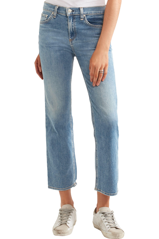 rag & bone Mid-rise straight-leg jeans