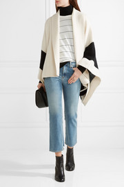 rag & bone Britton striped merino wool-blend cape