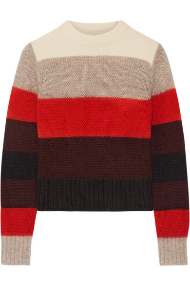 Rag & bone - Britton Striped Knitted Sweater - Red