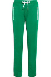 Mika satin-trimmed jersey track pants