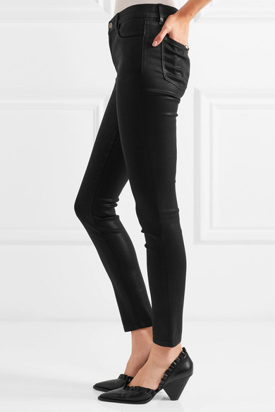 c1beff598a10 J Brand. 620 Super Skinny coated mid-rise jeans.  230. Play