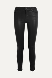620 Super Skinny coated mid-rise jeans