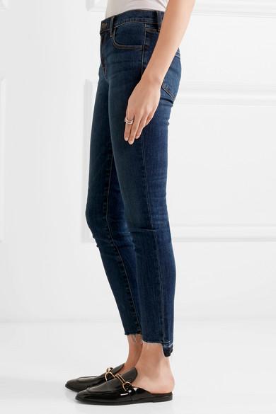 J Brand | 811 frayed mid-rise skinny jeans | NET-A-PORTER.COM