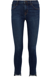 811 frayed mid-rise skinny jeans