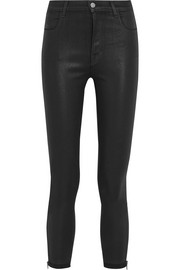 Alana coated high-rise skinny jeans