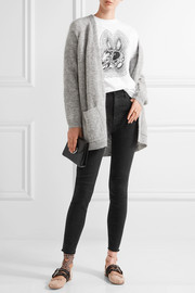 J Brand Carolina distressed high-rise skinny jeans