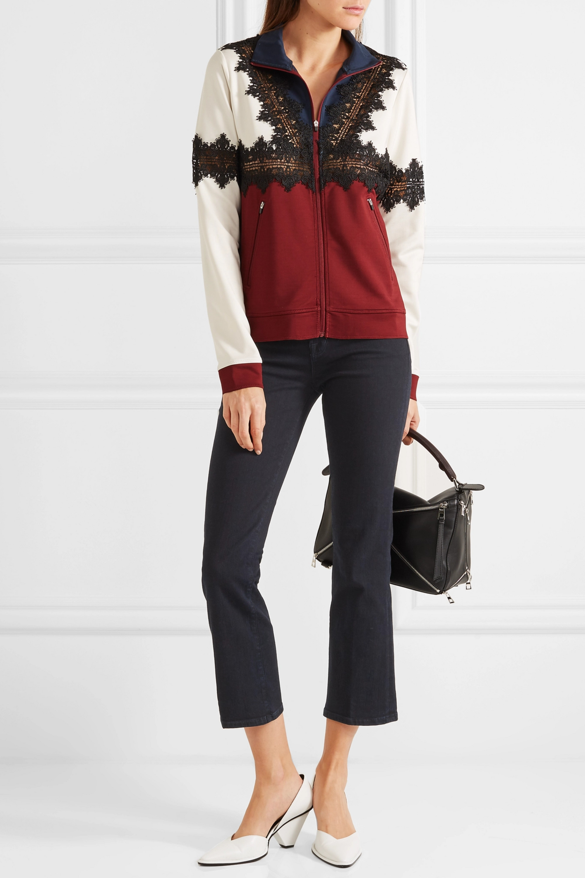 J Brand Selena cropped mid-rise flared jeans