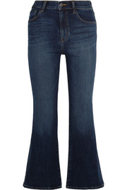 Carolina cropped high-rise flared jeans