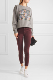 Anja cropped stretch-sateen skinny pants