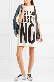 Moschino Oversized printed cotton-jersey T-shirt dress