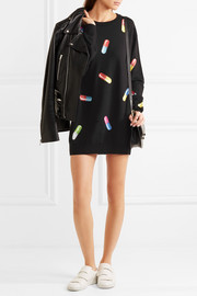 Moschino Printed wool sweater dress