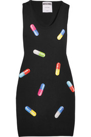 Moschino Printed wool mini dress
