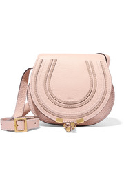 Marcie mini textured-leather shoulder bag