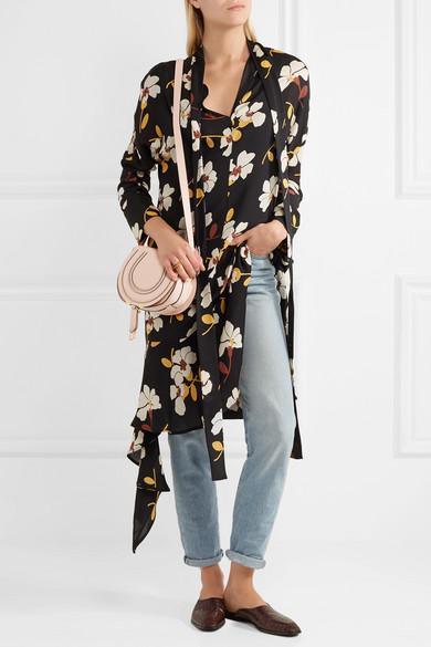chloe marcie mini. marcie mini textured-leather shoulder bag chloe n