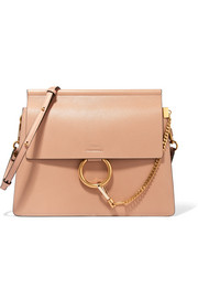 Chloé Faye medium textured-leather shoulder bag