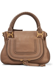 The Marcie medium textured-leather tote
