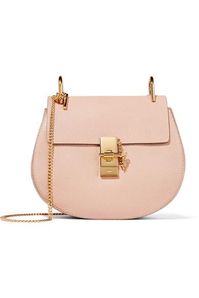 Chloé - Drew Small Textured-leather Shoulder Bag - Blush
