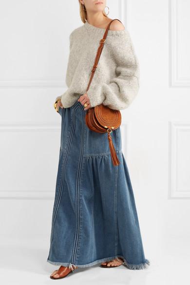 chlo marcie mini suede shoulder bag net a porter com. Black Bedroom Furniture Sets. Home Design Ideas