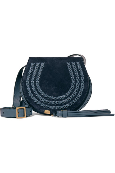 b1e53a022d Marcie mini suede and leather shoulder bag