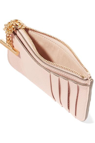 chlo joe textured leather cardholder 189 zoom in - Chloe Card Holder