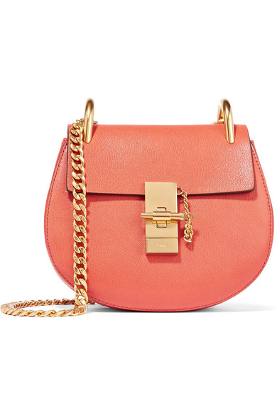 Chloé - Drew Mini Textured-leather Shoulder Bag - Tomato red