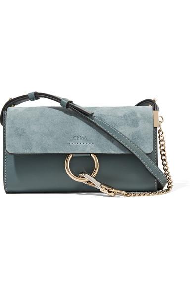 ba8f4f6cff Faye mini leather and suede shoulder bag