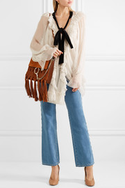 Chloé Faye medium braided leather and suede shoulder bag