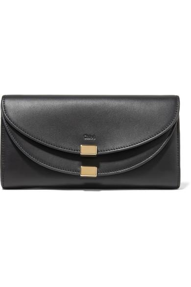 Chloé - Georgia Leather Wallet - Black