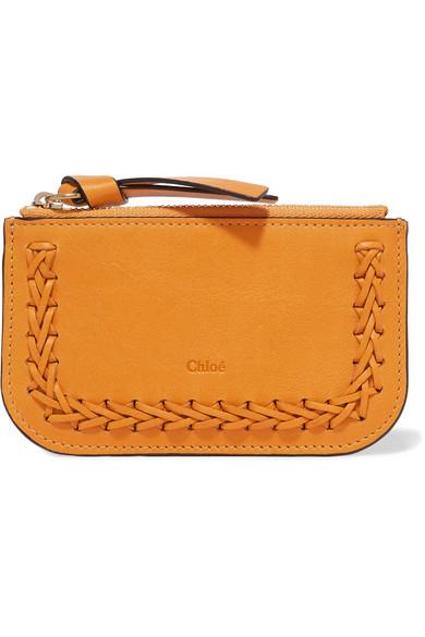 Chloé - Hudson Whipstitched Leather Cardholder - Saffron