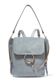 Chloé Faye medium leather and suede backpack