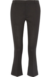 Vichy cropped stretch wool-blend flared pants