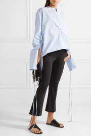 Totême Vichy cropped stretch wool-blend flared pants