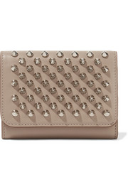 Christian Louboutin Macaron mini spiked leather wallet